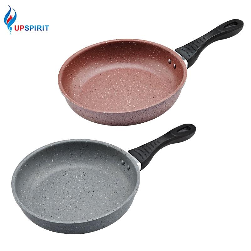 Upspirit Aluminum Frying Pan with Bakelite Handle Nonstick Fish Bacon Steak Eggs Pancake Omelette Making Skillet Kitchen Tools