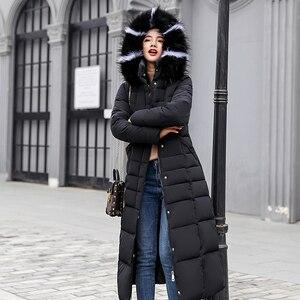 Image 2 - Fitaylor ผู้หญิงฤดูหนาวยาวผ้าฝ้าย Parkas ขนขนาดใหญ่ Hooded Coat Casual อุ่นแจ็คเก็ต Wadded หิมะ Overcoat