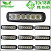 10 Pcs Free Shipping 6 Inch Spot Flood Single Row 18W 4x4 Truck LED Work Light