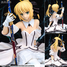 13CM Anime Fate Stay Night Fate zero saber model White Wedding Bouquet Saber lily PVC Action Figure Model GARAGE KIT New anime figure 22cm fate stay night ccc wedding dress ver saber bride pvc action figure collectible model toy gift