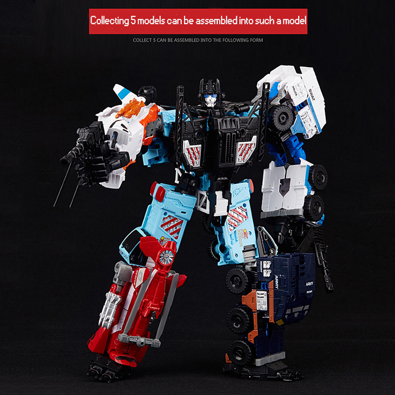 Transformation Weijiang Metal Part Oversize IDW Defender Figure Toys 5IN1 Sets War Team KO Collection TF Action Figure Robot Toy [show z store] g creation gdw 03 fuuma sixshot idw transformation action figure