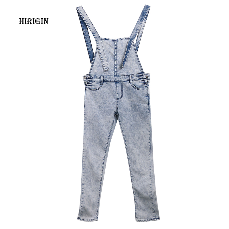 We Are famlily Store New Arrivals Women Girls Washed Jeans Denim Casual Hole Loose Jumpsuit Romper Overall Pants