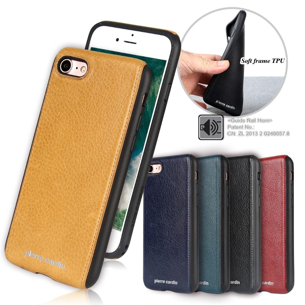 För Apple iPhone 7 8 plus telefonväska Pierre Cardin Anti-knock - Reservdelar och tillbehör för mobiltelefoner - Foto 1