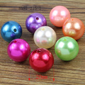 81-215 12mm/20mm mix Color Big Chunky Gumball Bubblegum plastic ABS pearl Beads , Chunky Beads for  Jewelry