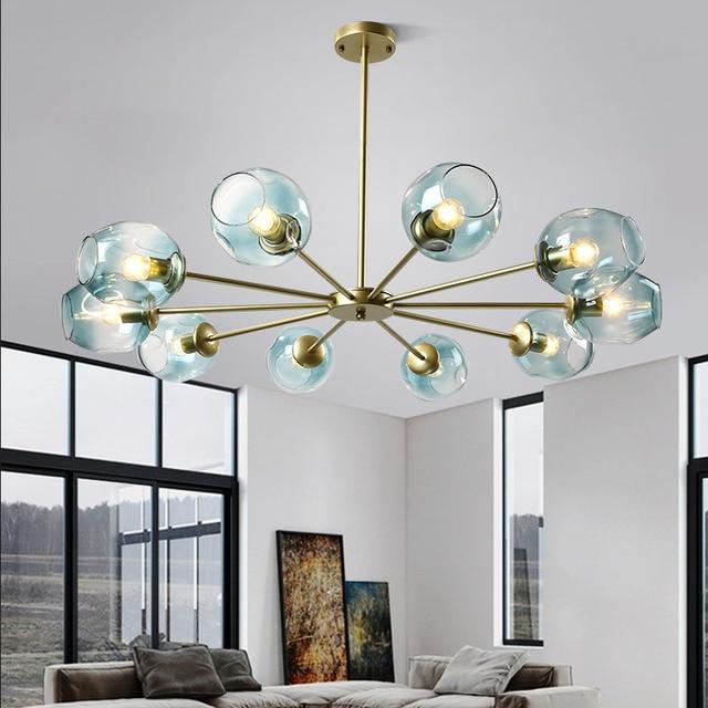 Modern light luxury living room LED chandelier Nordic molecular magic bean postmodern light bedroom lamp Cafe restaurant lights
