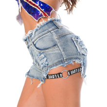 Sexy Club Shorts Women High Waist Jeans Short Korean Fashion Beach Wear Pole Dance Mini Trousers Sexi Shorts For Girls KC5F030