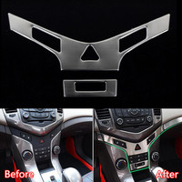 Stainless Steel Car Interior Front Central Console Panel Decoration Trim Styling Car covers For Chevrolet Cruze 2009 2014