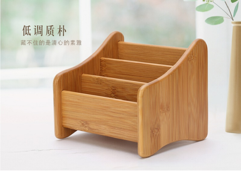 Brief Bamboo Solid Wood Remote Control Storage Box Creative Wood Office  Desktop Storage Box Living Room Table Storage Racks  In Storage Boxes U0026 Bins  From ... Part 89