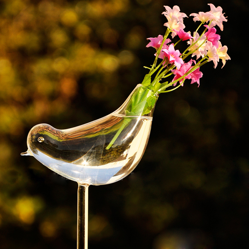 Bird Terrarium Glass Round Pots Flower Pot Vases Tabletop Wedding  Decoration Blow Pots Bird Terrarium