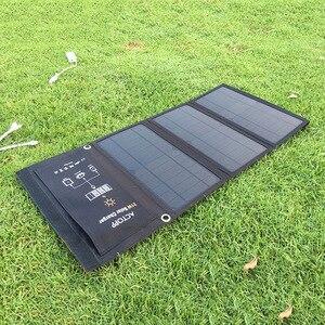 Image 5 - KERNUAP 15W 21W 28W 휴대용 태양 열 충전기 휴대 전화 캠핑 여행 Foldable Sunpower 패널 듀얼 USB 포트로 충전