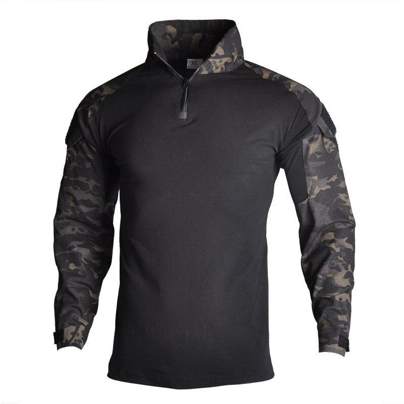 Esercito Militare T-shirt Da Uomo A Maniche Lunghe Camouflage Camicia Tattico Caccia Da Combattimento Multicam Camo T Shirt A Manica Lunga