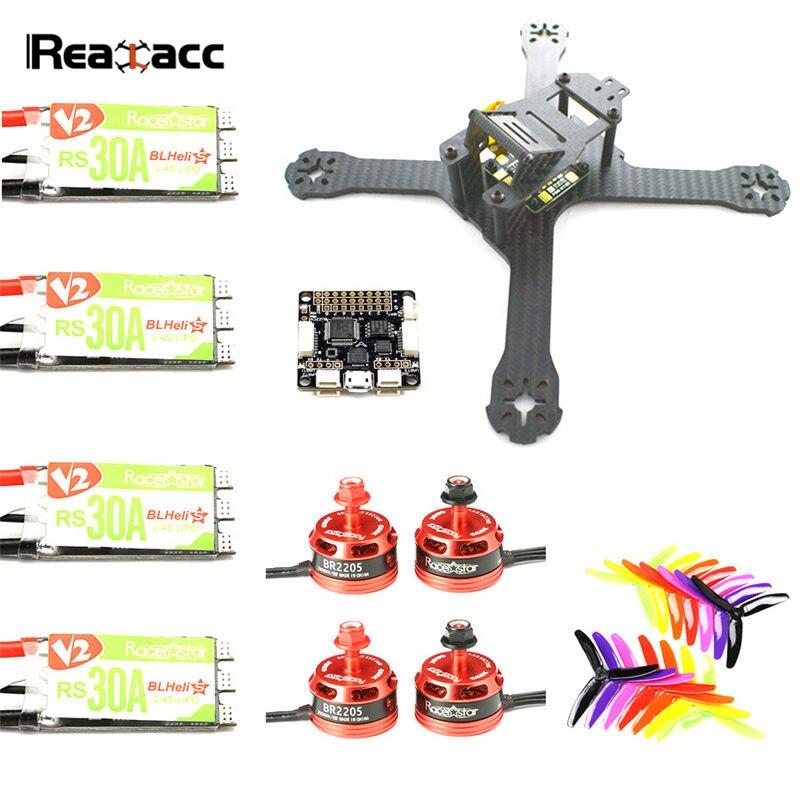 Original Realacc X210 4mm Rahmen Kit F3 Flight Controller Racerstar BR2205 2600KV Motor 30A Blheli_S ESC Kingkong 5040 5X4X3 Prop