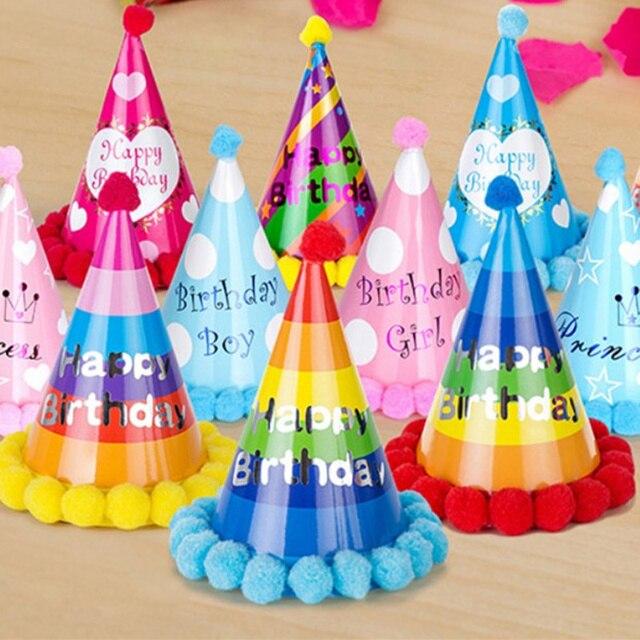 Party Supplies 3pcs ChildrenS Birthday Cartoon HatBirthday Decoration Paper Hat