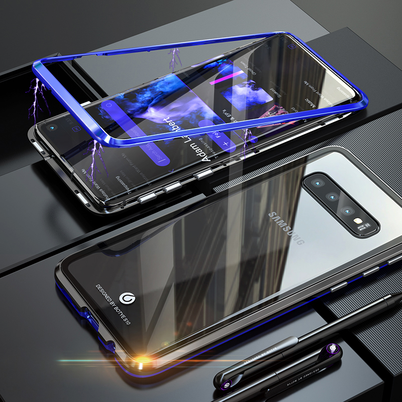 Magnetic Case sFor Samsung Galaxy S10 Plus S9 S8 Note 9 8 Metal Bumper Glass Cover For Galaxy coque Samsung S10 Plus Case S9PlusMagnetic Case sFor Samsung Galaxy S10 Plus S9 S8 Note 9 8 Metal Bumper Glass Cover For Galaxy coque Samsung S10 Plus Case S9Plus