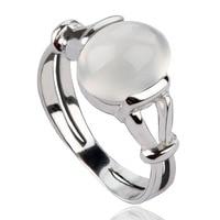 Twilight New Moon BELLA Natural Moonstone 925 Silver Ring Isabella Swan Cullen Vampire Girl Ring S925