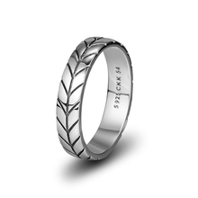 CKK Genuine 925 Sterling Silver Wheat Ear Party Ring Female Original Exquisite Jewelry Gift