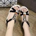 Summer new women's flat heel sandals non-slip soft bottom flat sandals female student driving comfort sandals leisure sandals