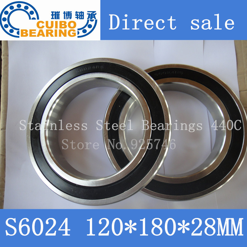 S6024  2RS Stainless Steel Bearing 120x180.x28 Miniature 6024 RS  Ball Bearings S6024