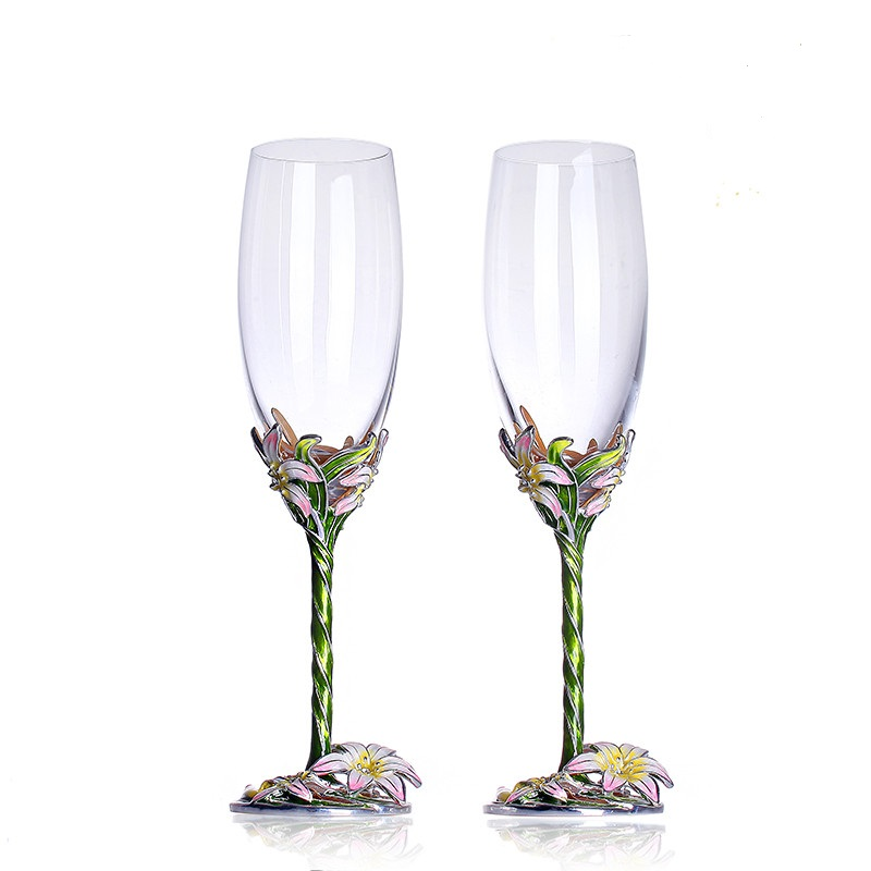 Čaše za vino Emajl cvijeće šampanjca flaute Coupe šampanjac - Kuhinja, blagovaonica i bar