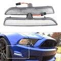 2 unids/set Lente Transparente Frontal Luces de Posición Laterales con 27-SMD Ámbar Luces LED Para Ford Mustang Parachoques Delantero 2010-2014 Sustituir Halógenas