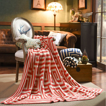 AAG Cotton Knitted Jacquard Blanket Christmas Decorative Sofa/Bed Geometry Lazy Throw King Size for Adults/kids