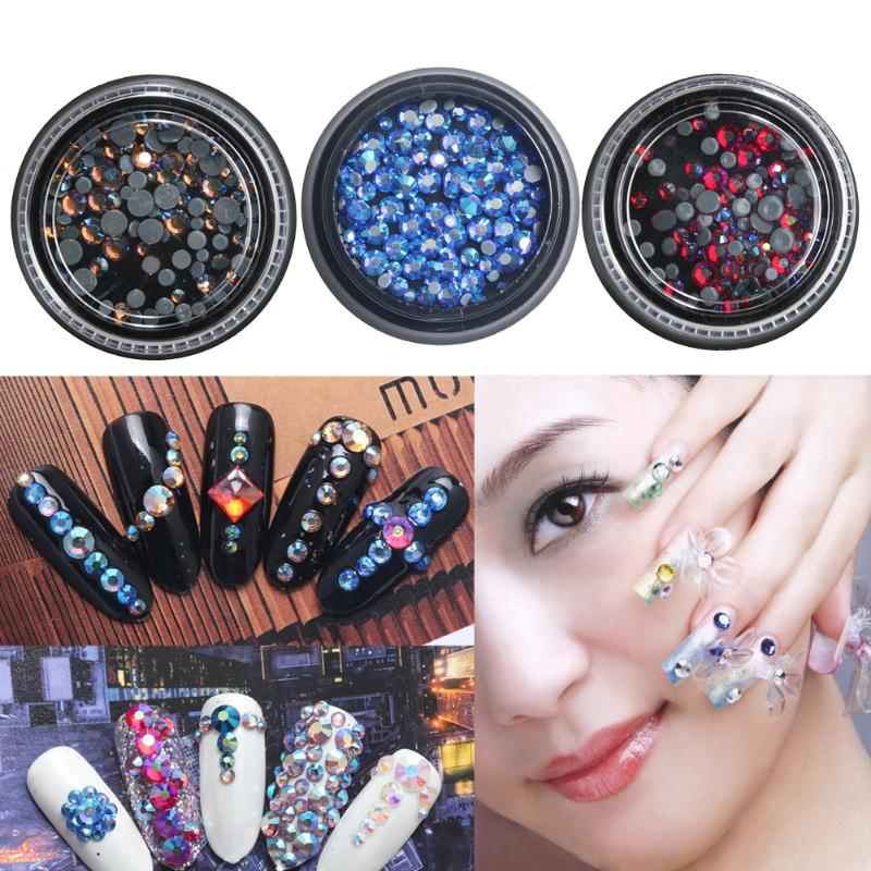 Image result for great mixed diy size glitter rhinestones charm 3d nail art decor accessories