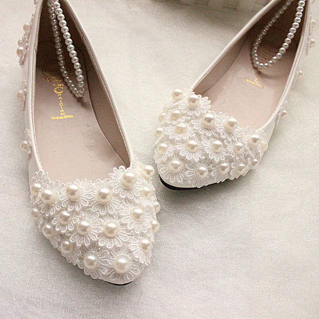 Kobiety Buty ślubne Buty ślubne Flower Pearl Urządzone Biały