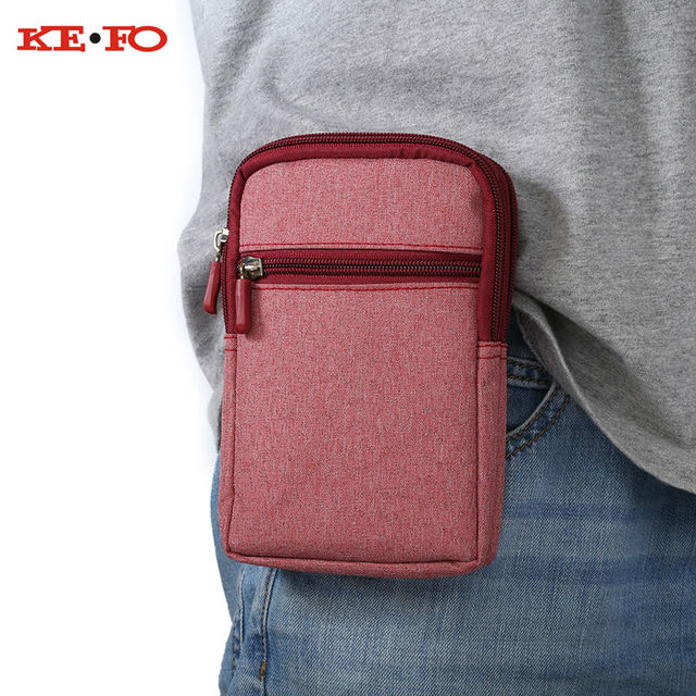 Denim Leather Universal Holster Phone Pouch Bag Wallet Case Belt Clip For Cubot X6 X9 X10 X11 X12 X15 X16 X17 P9 P11 P12 H1 H2