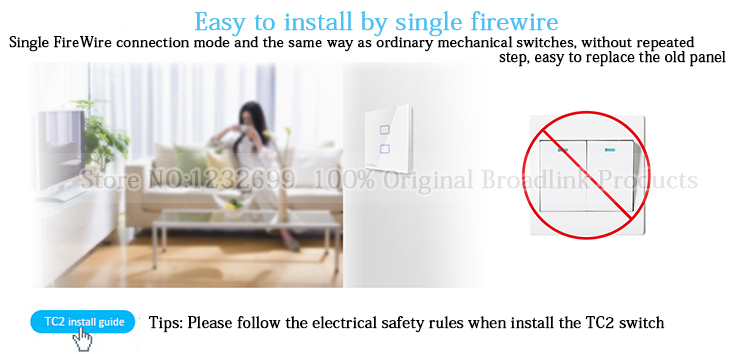 BroadLink 433Mhz Smart Home Wall Light Switch WiFi control from smart phone tc2-2-3-1.jpg