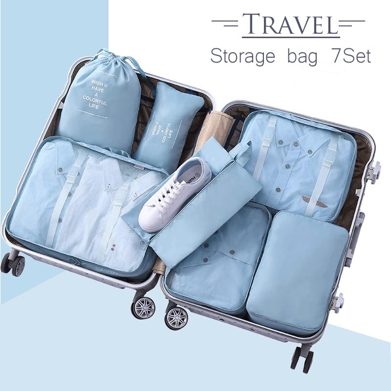 Storage-Set Make-Up-Organizer Closet-Bags Travel Home for 7pieces-Bag Saving-Space