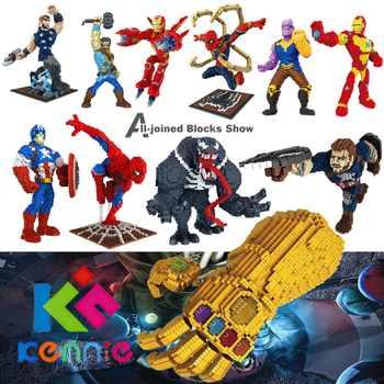 Kennie New Arrive Personal DIYHerose Venom model diamond Blocks building toys Action Figure for children gifts - DISCOUNT ITEM  46 OFF Toys & Hobbies