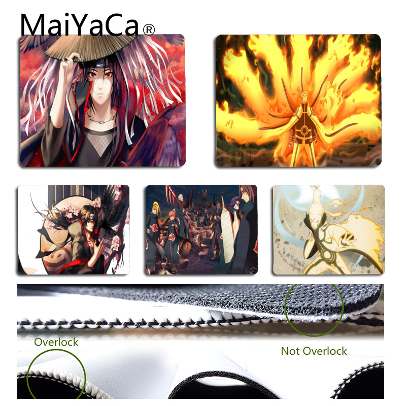 MaiYaCa High Quality Naruto Super Handsome Mouse Pad For Laptop Size For 180*220*2mm And 250*290*2mm Mousepad