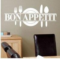 Free Shipping 2014 Hot Modern Romantic Bon Appetit ZYVA 8344 French Kitchen Restaurant Vinyl Stickers Wall