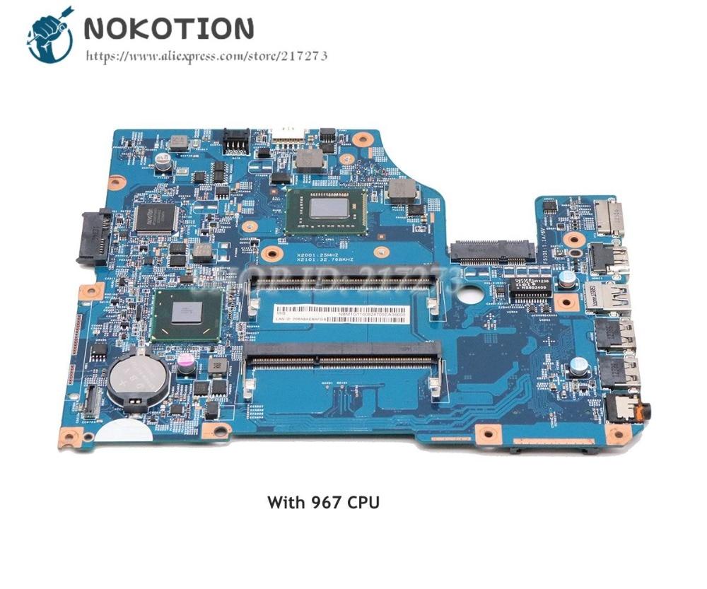NOKOTION For Acer aspire V5-531 Laptop Motherboard 48.4VM02.011 NBM1711001 DDR3 with 967 CPU MAIN BOARDNOKOTION For Acer aspire V5-531 Laptop Motherboard 48.4VM02.011 NBM1711001 DDR3 with 967 CPU MAIN BOARD