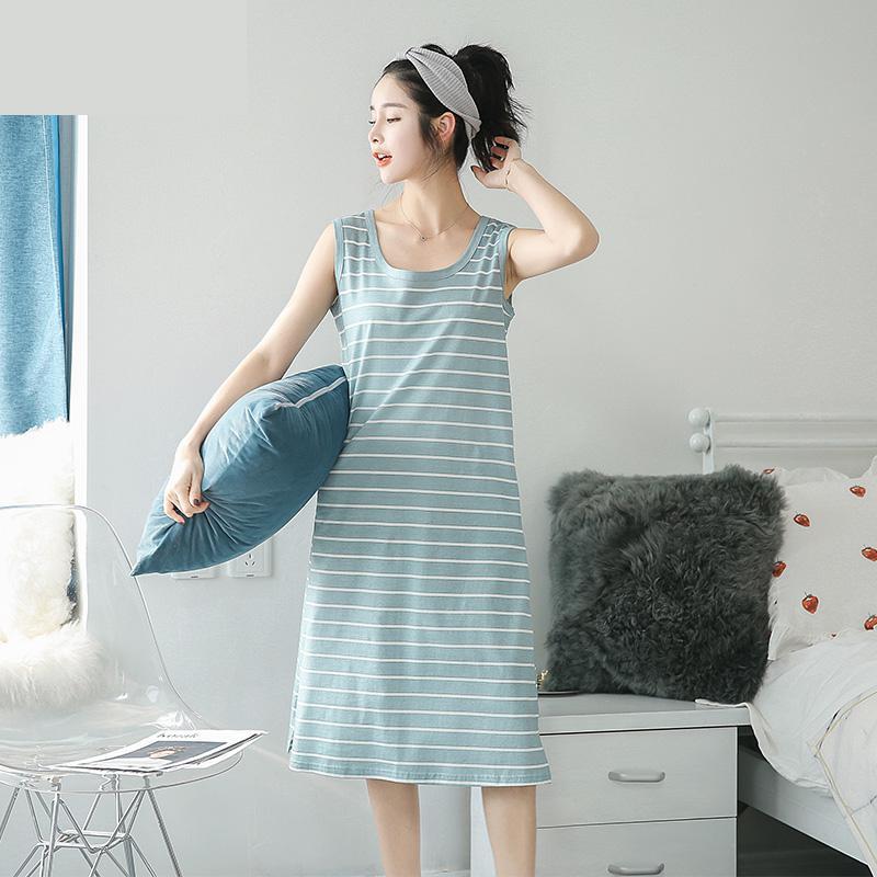 2019 new Nightdress Women Women Nightwear Sleepwear Women   Nightgowns   &   Sleepshirts   Home Dress 9463