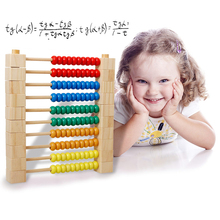 Colorful Wood Block Wooden Cube Building Blocks Early Educational Toys Birthday Gift Calculation Frame Disassembly Brinquedos