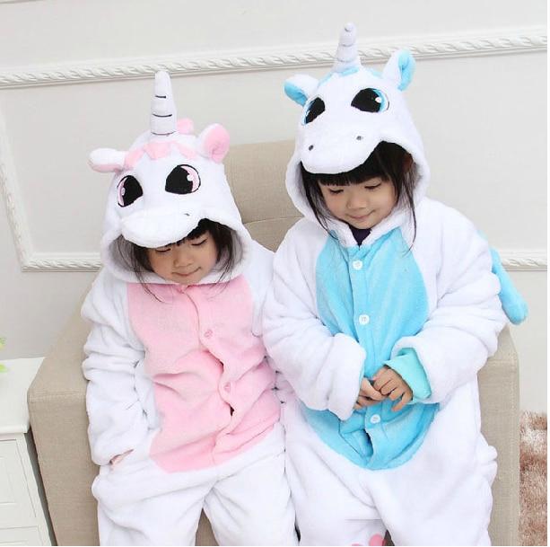 5440a43b891f Kids Animal Pink blue Unicorn Onesie Children Pyjamas Cosplay Costume  Pajamas Boys Girls Onesie Sleepwear Jumpsuit b20