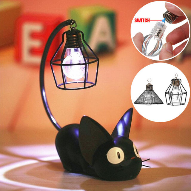 LED Night Light Creative Resin Cat Animal Night Light Ornaments Home Decoration Small Cat Night Lamp For Child Kids Gift