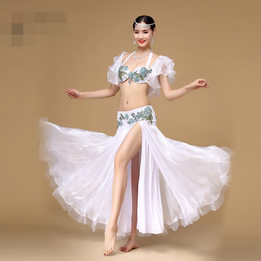 Здесь продается  new Size M/L Belly Dancing Clothing Oriental Petals sleeves&Long Skirt Chiffon Belly Dance Costume Set Performance clothing  Одежда и аксессуары
