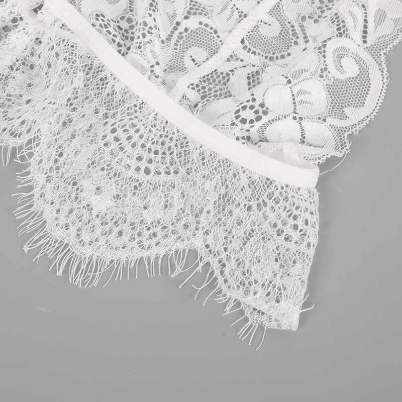 8d16e20df5 ... ROPALIA Women Bra Brief Sets Lace Edge Floral Wireless Bralette Strappy  Push Up Bra Lingerie Underwear ...