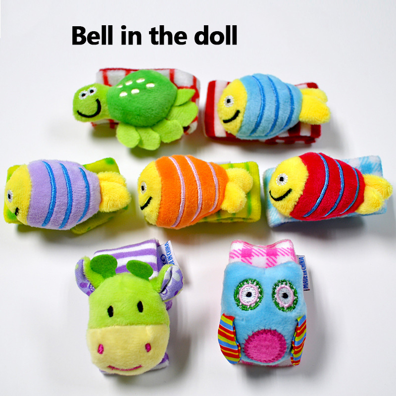 New Auditory  Baby Toys 0-12 Months Baby Toddler Toys Animal Wristband Ringing Newborn Toys Wooden Rattle Educational Best Gift