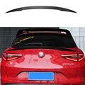 Спойлер для Alfa Romeo Stelvio  задний спойлер из углеродного волокна  черный спойлер для багажника  Quadrifoglio Verde 2017-2018