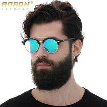 AORON Polarizadas gafas de Sol de la Marca Original de Gafas Redondas Gafas de Ocio Mujeres Steampunk Gafas Retro Gafas de Sol 4346