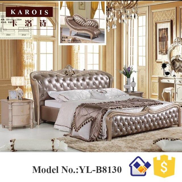 Best Quality Home Furniture Carved Bed Room Set B8130