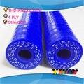 1 Metro Comprimento Do tubo de mangueira de silicone em linha reta da tubulação ID 12 MM 13 MM 14 MM 15 MM 16 MM VERMELHO AZUL BALCK