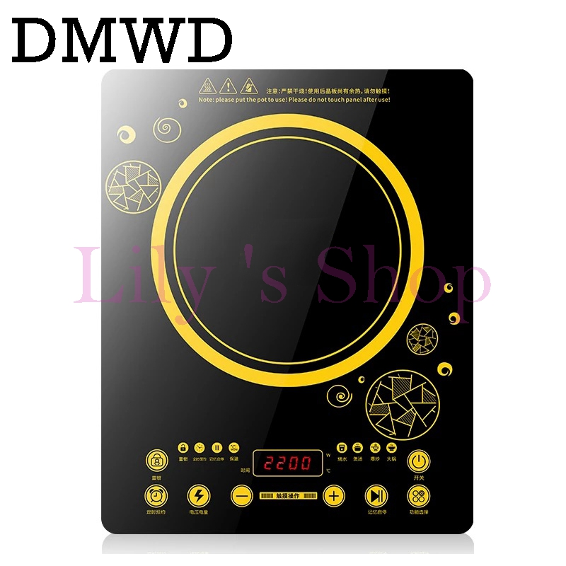 DMWD MINI electric magnetic Induction cooker touchpad 220V household waterproof small hot pot stove oven kitchen appliance EU US touch intelligent electric magnetic induction cooker household waterproof oven mini hot pot stove kitchen cooktop 220v ca2007g