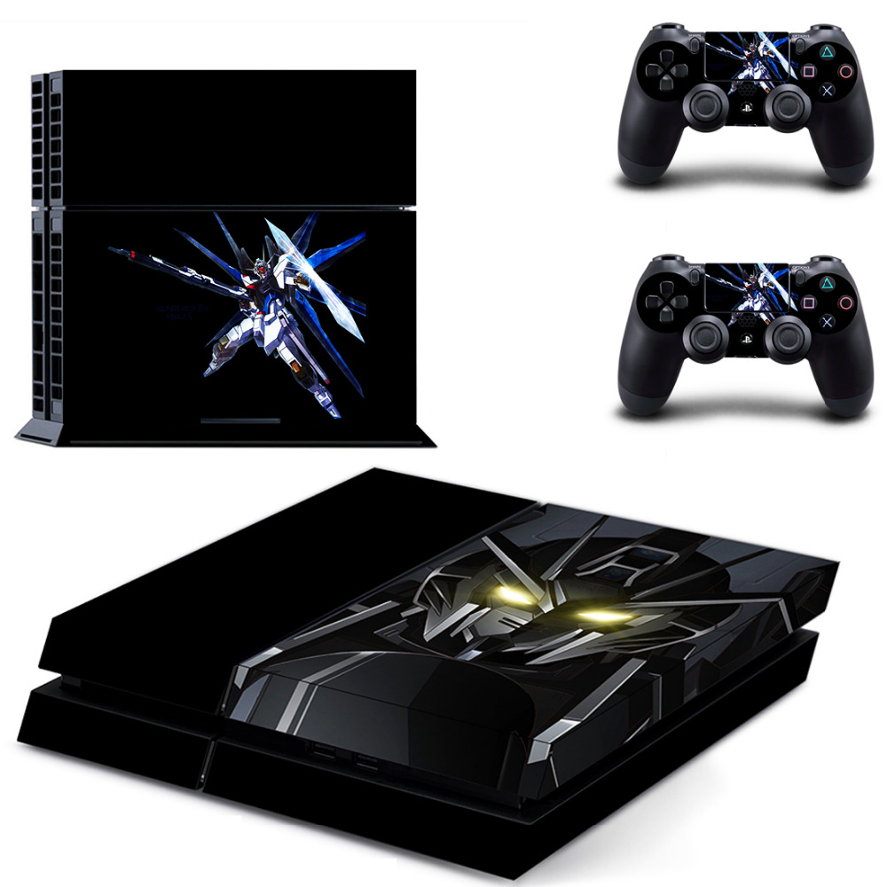 Anime Gundam PS4 Skin Sticker Decal For Sony PS4 PlayStation 4 PS 4 Console and 2 Controllers PS4 Stickers Accessories