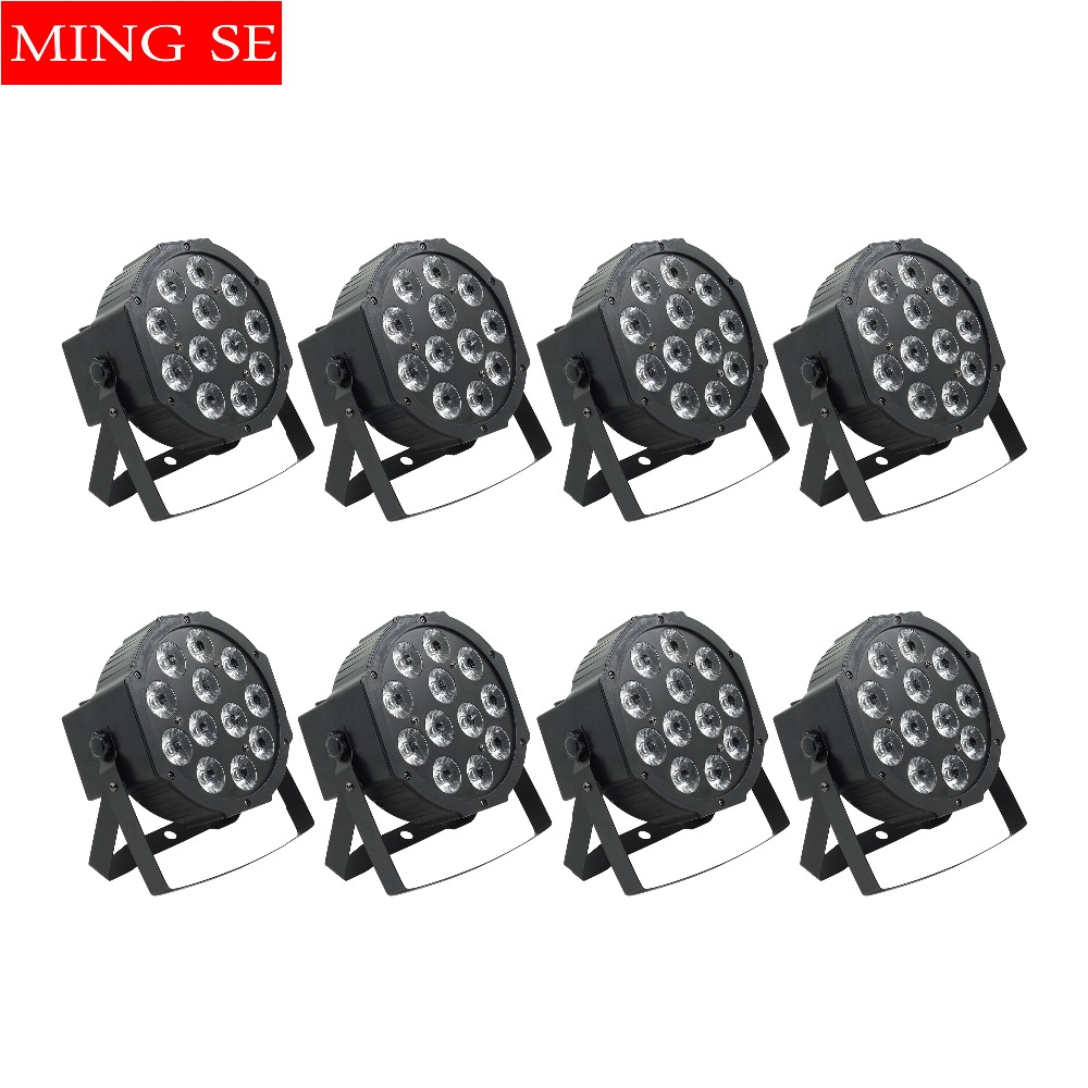 Tireless 8pcs/lots Flat Par Led Of 12x12w Rgbwa Uv 6in1 Led Par Light Can Par 64 Led Wall Washer Lighting Wedding Party Stage Light With Traditional Methods Lights & Lighting