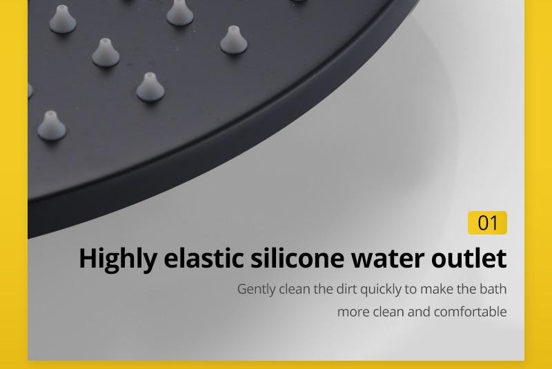 Shower System Black Rainfall Shower Head Brass Body Hand Shower Bathroom Rain Mixer Thermostatic 108 Shower Set (22)
