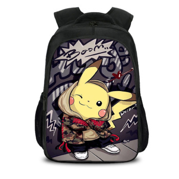 Anime Pokemon Backpack Boys Girls School Bags Children Pikachu Backpack for Teenagers Kids Gift Backpacks Schoolbags Mochila 19 new children trolley school backpack wheels travel bags climb stair schoolbags kids trolley bookbags detachable mochila escolar